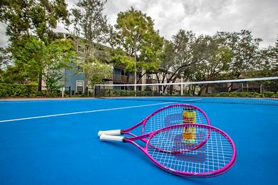 Tennis Court | Get in a game on our regulation size tennis court.