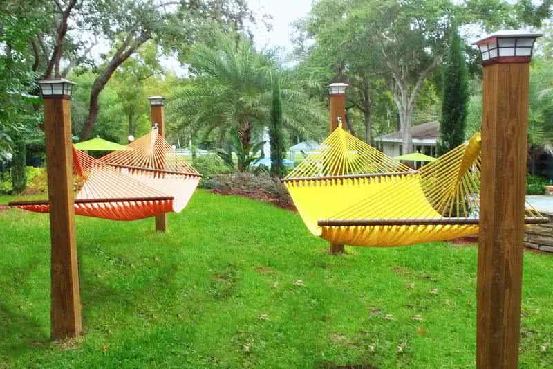 Hammock Garden | Lay out and relax at our hammock garden.