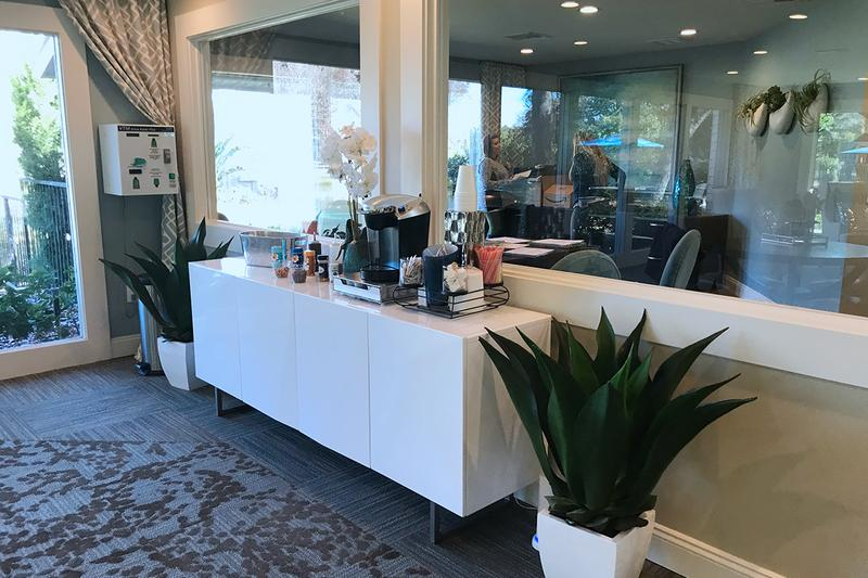 Complimentary Coffee Bar | The leasing office features a complimentary coffee bar available for residents during office hours.