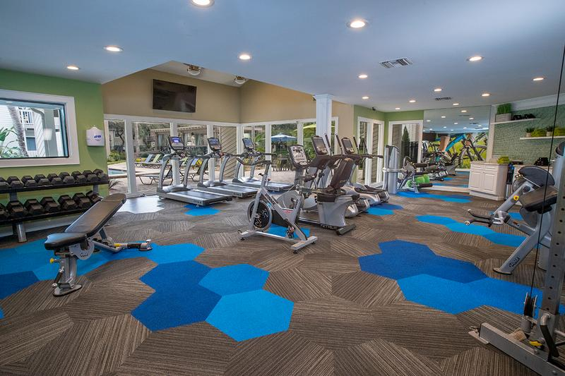 24-Hour Fitness Center | Get an invigorating workout in our brand new 24-hour fitness center.