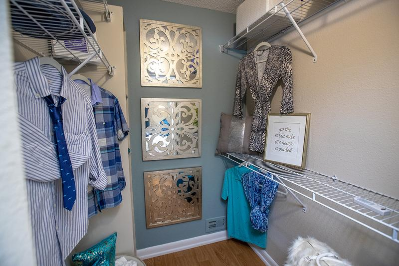 Walk-In Closet | Master bedrooms also feature a spacious walk-in closet with built-in organizers.