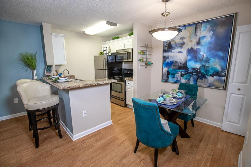 Separate Dining Area | All floor plans feature a separate dining area that overlooks the kitchen.