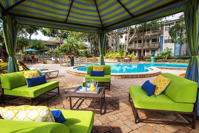 Poolside Cabana | Relax next to the pool under the shade of our poolside cabana.