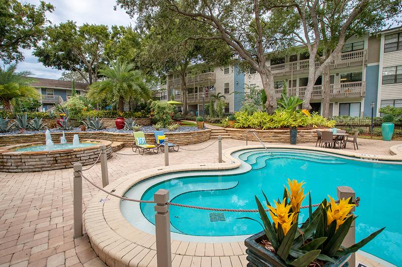 Resort-Style Pool | Enjoy views of the beautiful landscaping that surrounds our resort-style pool.