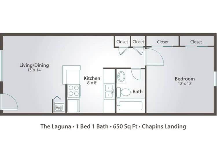 1 Bedroom Apartment Floor Plans Pricing Chapins Landing Pensacola Fl