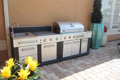 Gas Grill | Have a cookout using our gas grill by the pool.