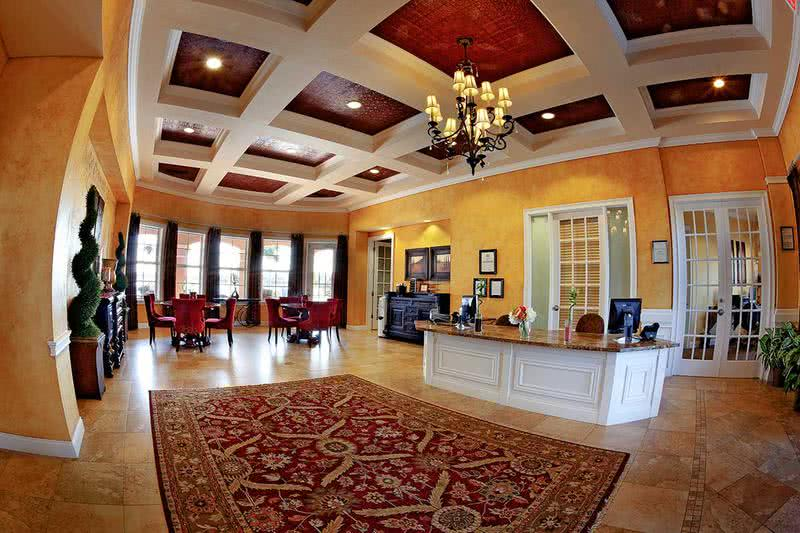 Clubhouse Interior | Our residents enjoy events held monthly in our beautiful clubhouse.