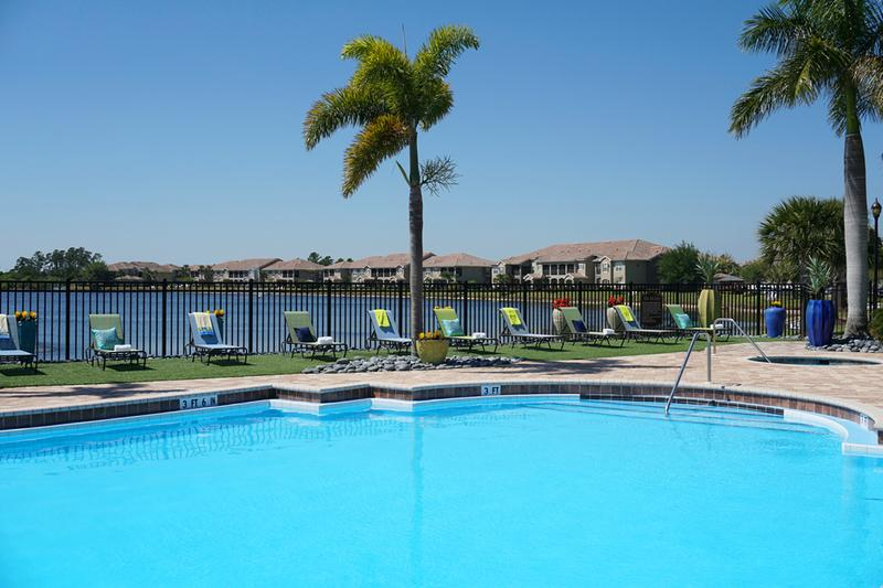 Resort-Style Pool | Cool off from the Florida sun in our beautiful sparkling pool. Enjoy free Wi-Fi by the pool as well!