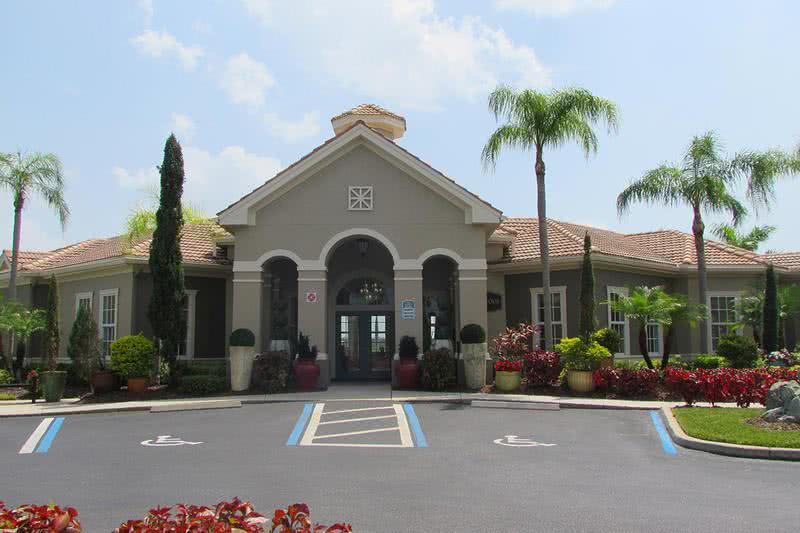 Clubhouse Exterior | Our resident clubhouse features a business center and complimentary coffee - come on in and say hello!