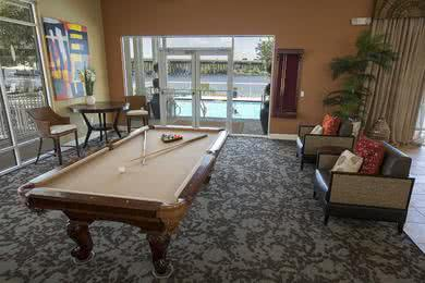 Billiards Room | Our clubhouse features a billiards room.