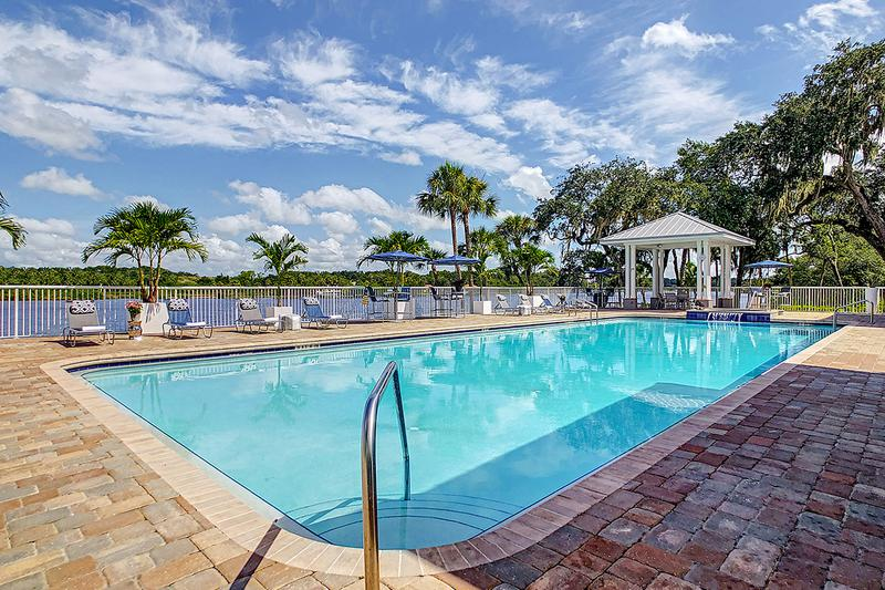 Lakeside Pool | You'll love laying out by our lakeside pool.