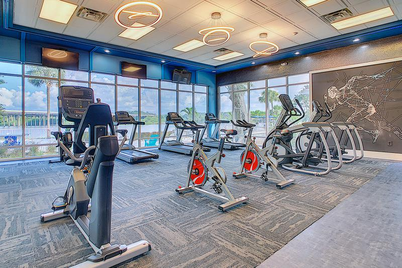 Cardio Equipment | Our fitness center features cardio equipment including treadmills and spinning bikes.