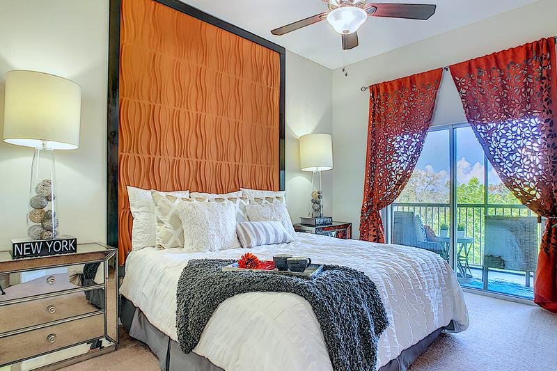 Master Bedroom | Master bedrooms featuring walk-in closets and sliders to private balcony/patio.
