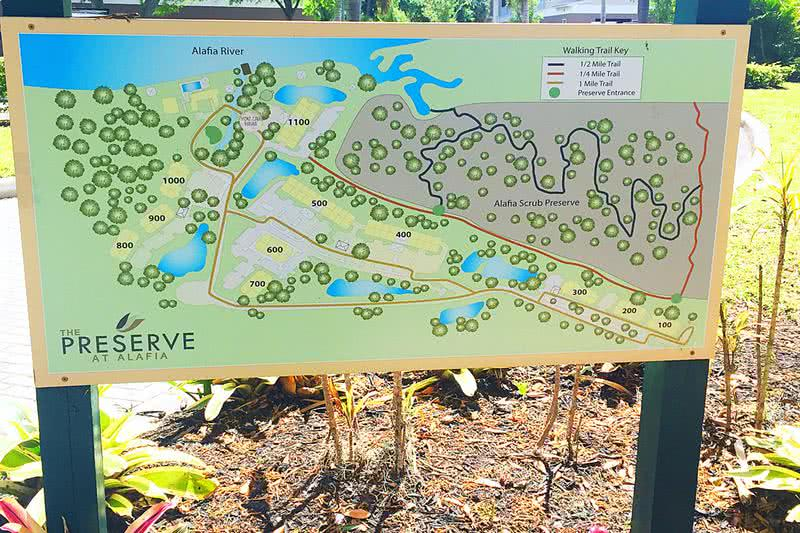 Lose Your Blues on Our Hiking Trails | Enjoy the 80 acre preserve with nature trail located right next to our community. Trails are located throughout our community and lead to the Alafia River.