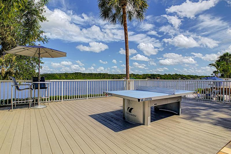 Waterfront Ping Pong | Play a game of ping pong while overlooking the beautiful lake.