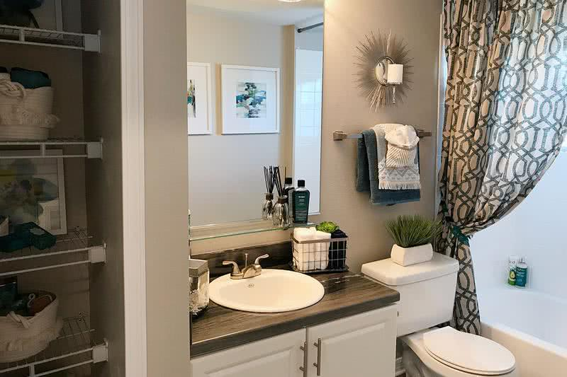 Updated Bathrooms | Updated bathrooms featuring a linen closet.