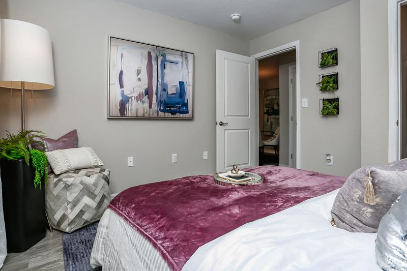 Bedroom | Spacious bedrooms featuring large closets with built-in organizers for your convenience.