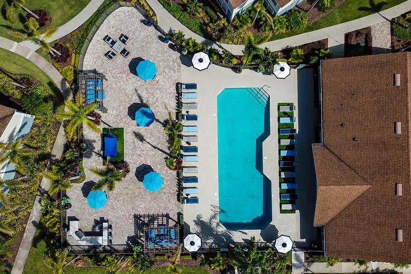 Expansive Sundeck | An aerial view of our expansive sundeck.