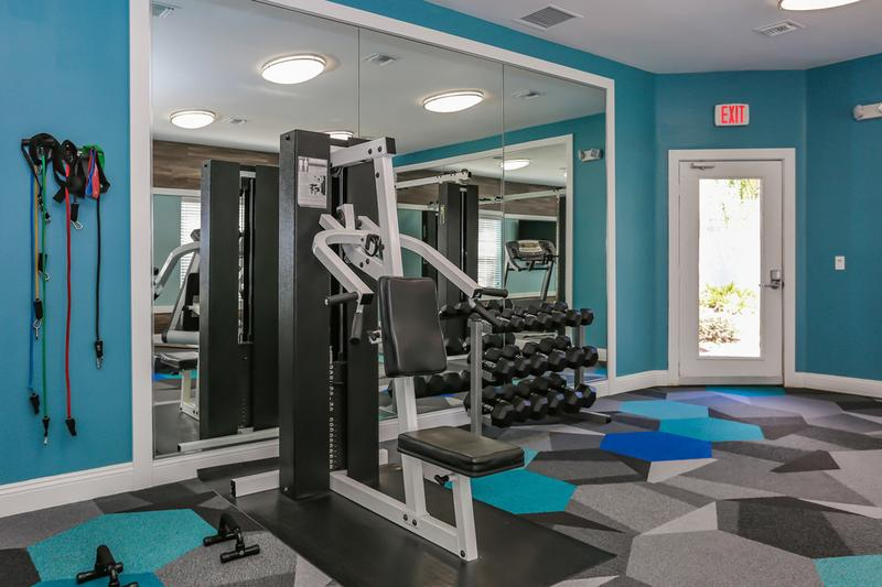 Fitness Center | Our fitness center includes plenty of machines for you to get in your workout.