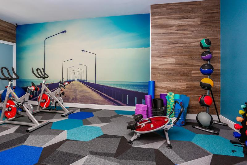 Cycling Bikes | Our fitness center also features cycling bikes as well.