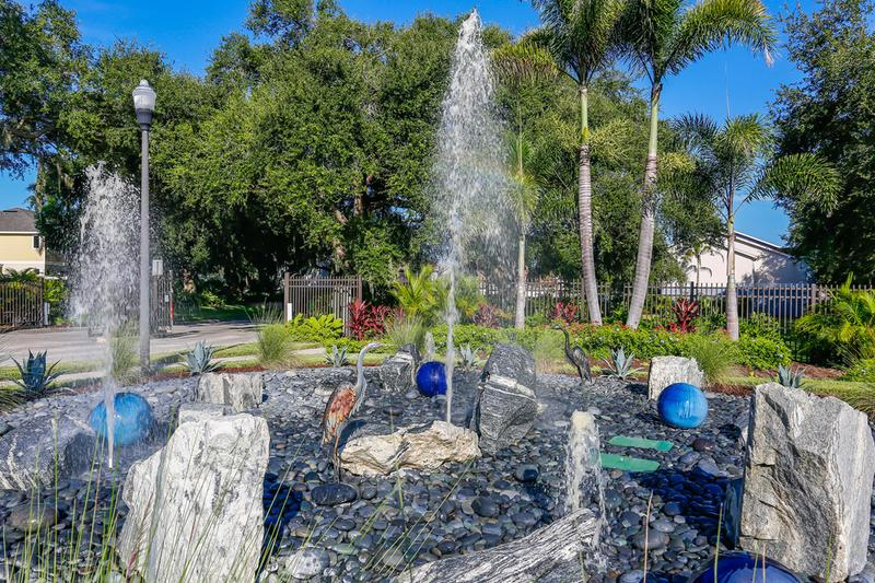 Fountain | Enjoy views of our beautiful fountain at the entrance of the community.