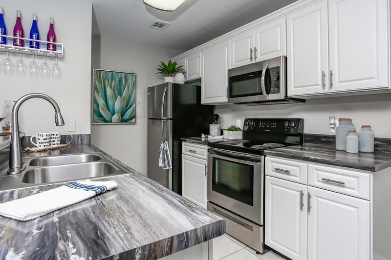 Stainless Steel Appliances | Our newly renovated apartments feature stainless steel appliances.