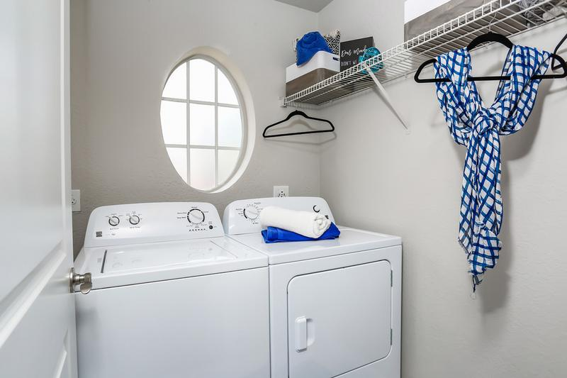 Laundry Room | Laundry rooms featuring full size washer and dryers for your convenience.
