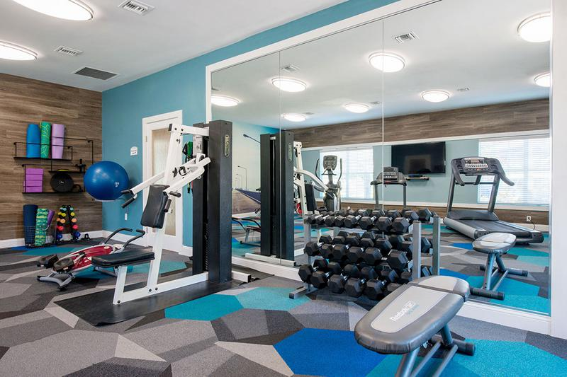 Free Weights | Our fitness center features free weights to get in your strength training.