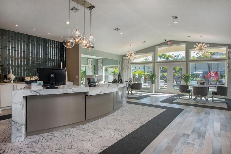 Resident Clubhouse | Newly renovated resident clubhouse featuring a business center.