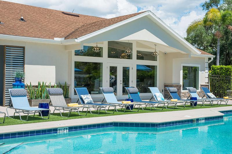 Poolside Loungers | Relax poolside and soak in the sun from one of our poolside loungers.