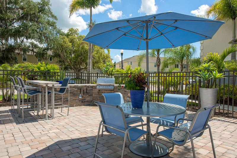 Picnic Area | Have a cook out at our poolside picnic area.