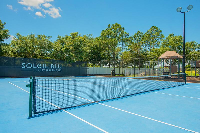 Tennis Court | Play a game on our tennis court.