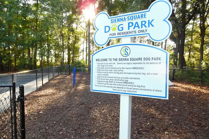 Dog Park | Bring your furry friend down to our dog park.