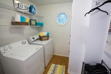 Laundry Room | All of our apartment homes feature full size washer and dryer appliances.