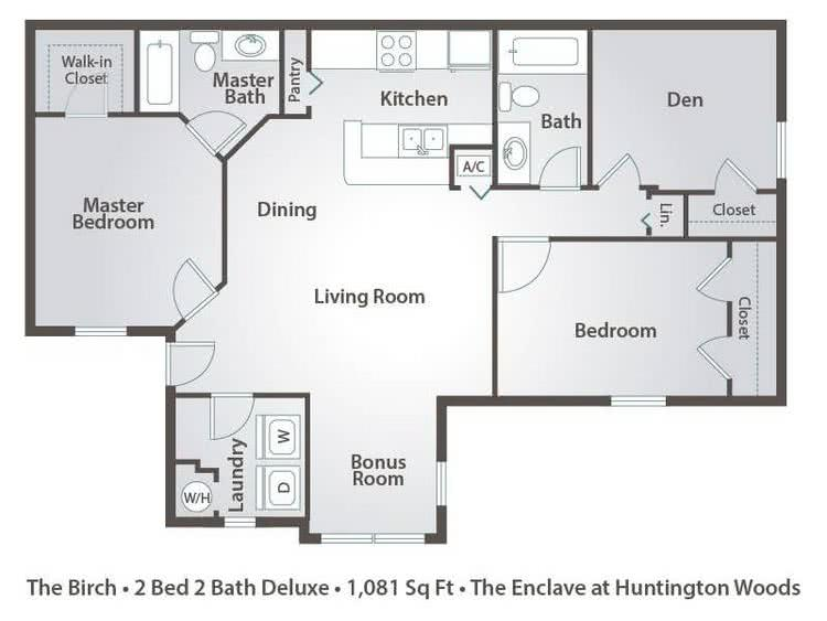 Apartment Floor Plans Pricing The Enclave At Huntington Woods In Tallahassee Fl