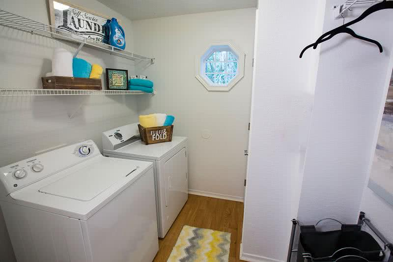 Full Size Washer & Dryer | Every apartment home comes complete with your very own laundry room for your convenience.