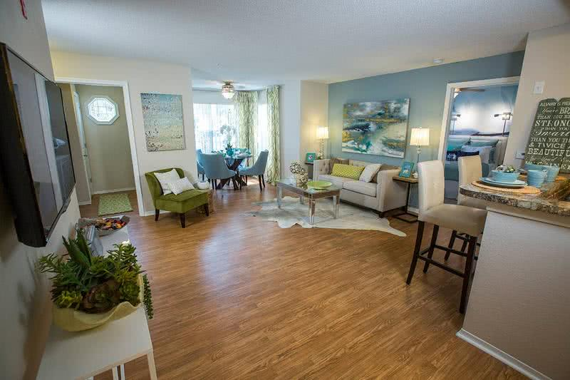 Wood Style Flooring | Wood style flooring is also available in select apartment homes.