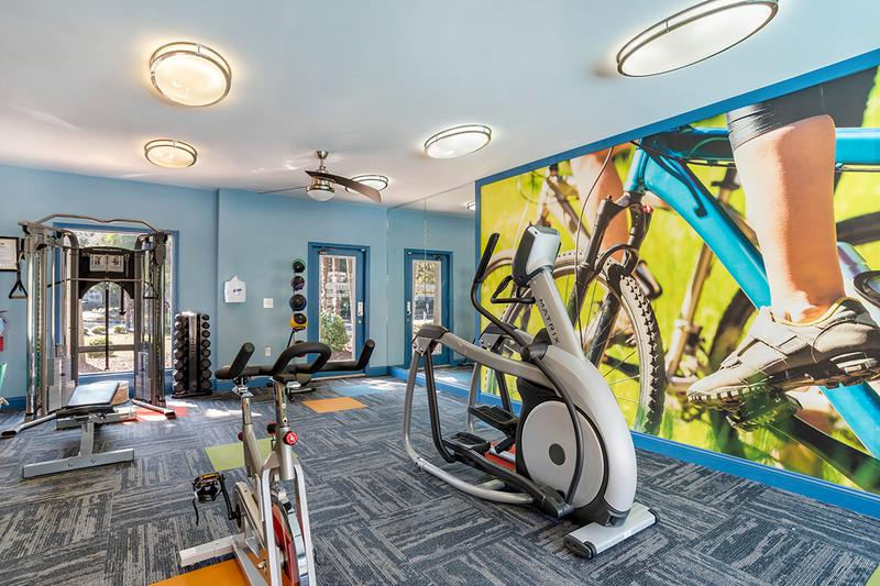 24-Hour Fitness Center | 24-hour fully equipped fitness center overlooking the swimming pool.