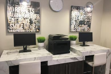Business Center | Resident business center with free printing - coming soon!