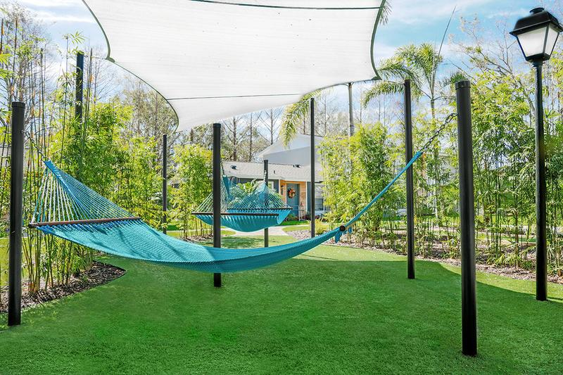 Hammock Garden | Lay out and soak in the sun at our hammock garden.