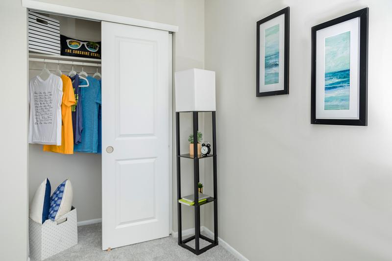 Closets | Bedrooms feature spacious closets with built-in organizers.