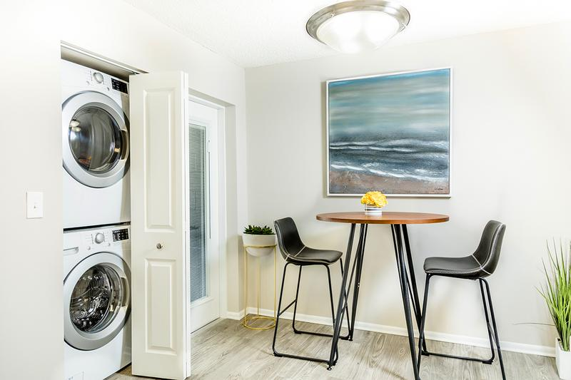 Washer & Dryer | Apartment homes are complete with front loading washer and dryers for your convenience.