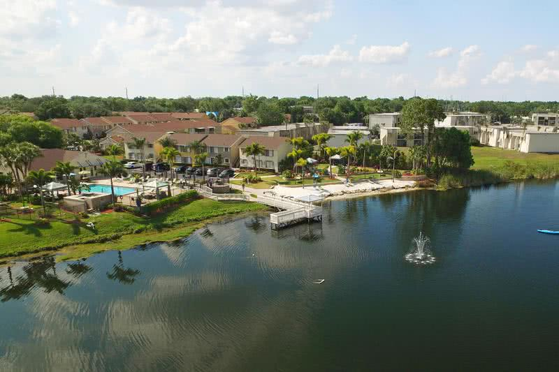 Aerial View of Community | Amber Lakes is situated on the beautiful Lake Nan.