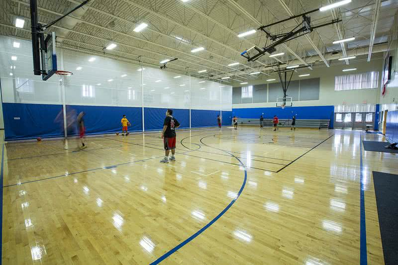 Magic Rec Center- Basketball Court | The Orlando Magic Rec Center basketball court. Gym memberships are available at $25/3 months.