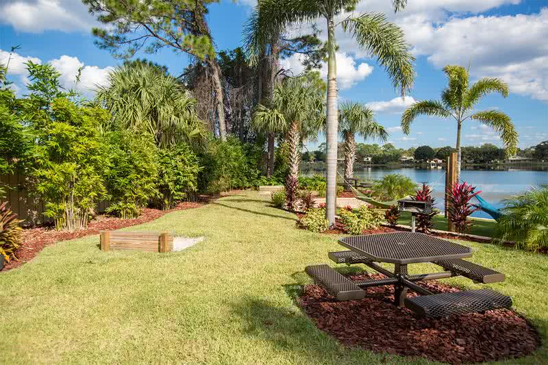 Picnic and Horseshoe Area | Have a picnic lakeside or play some horseshoes with friends.