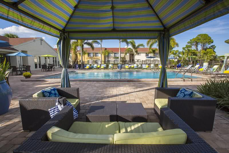 Poolside Cabanas | Relax by the pool under one of the new cabanas.