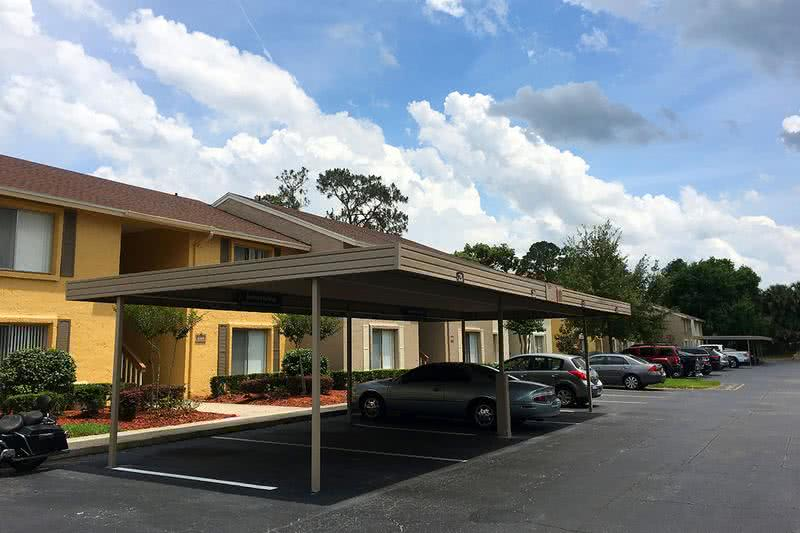 Covered Parking | Enjoy covered parking under one of our many carports. Reserve your spot today!