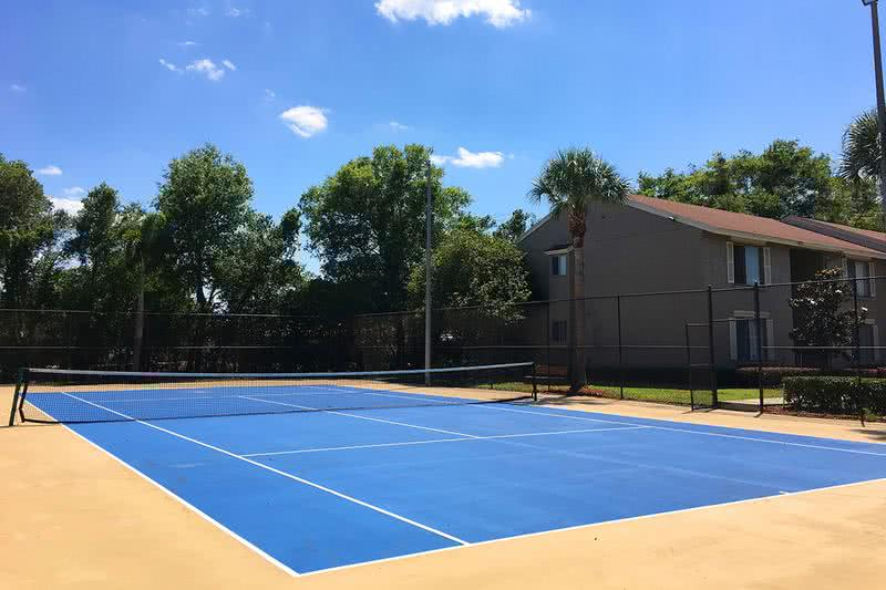 Tennis Court | Catch a game of tennis at our lighted tennis court.
