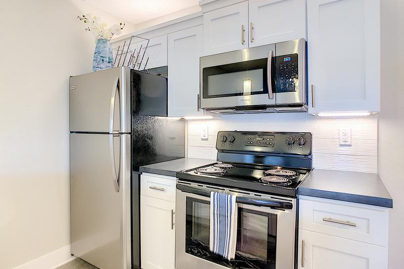 Stainless Steel Appliances | Updated kitchens featuring stainless steel appliances.