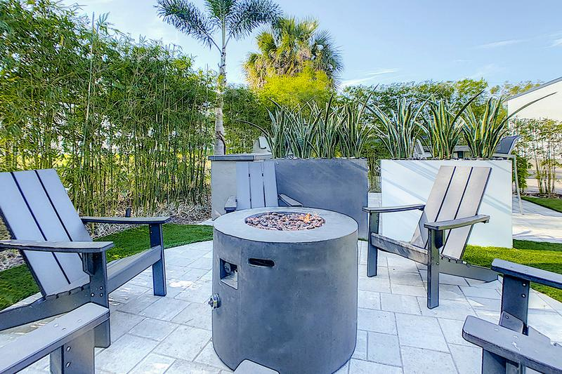 Fire Pit | Relax and warm up by our community fire pit.